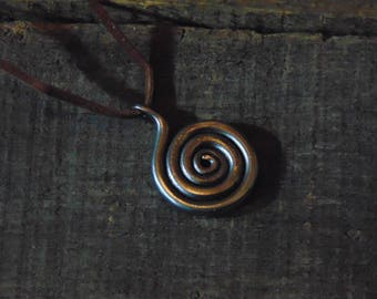 Hand-Forged Spiral Celtic Style Pendant