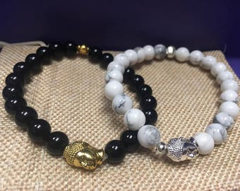 Solid Color Beaded Bracelets (Sold separately)