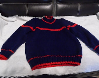 Sweater collar chimney Navy size 8