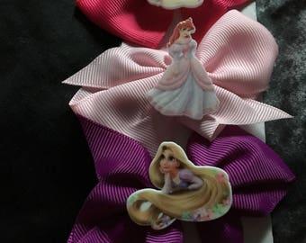 Set of 3 disney princess hair bows