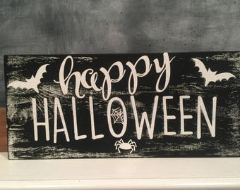 Hand Painted Halloween sign