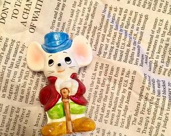 Little Mouse Figurine / Vintage Figurine / Terrarium Decor