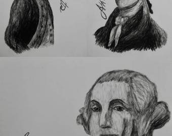 "Hamilton Charcoal/Graphite Notecard Set of 15 - 5.5""x4"""