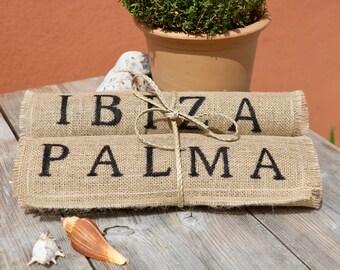 Burlap Placemats IBIZA & PALMA / Mantel Individual / Platzset