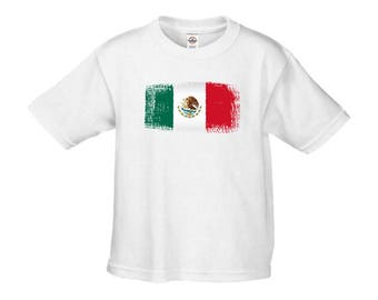 Mexico Flag INFANT T-Shirt Mexican Flag Shirt Mexican Pride White T-Shirt