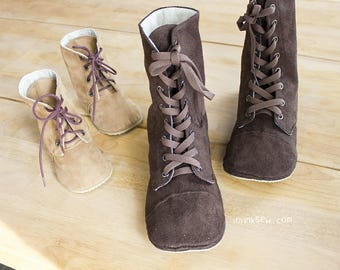 20% OFF! - no 719 Adler Mom & Baby's Combat Boots PDF Sewing Pattern