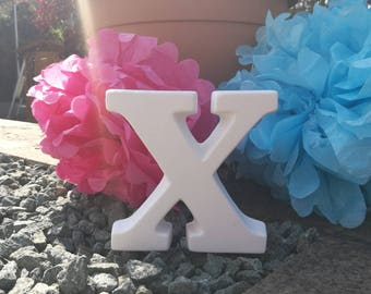 Ceramic Letter 'X' Bespoke Hand Painted to Order