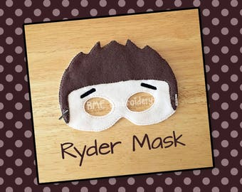 Paw Patrol Inspired Felt Mask-Ryder Mask-Child's Dress Up Imaginary Play- Birthday Party Favor-Photo Shoot-Pretend Play-Theme Party