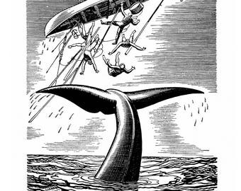 Poster - Moby Dick - engraving of Rockwell Kent - 1930 - fine art gallery
