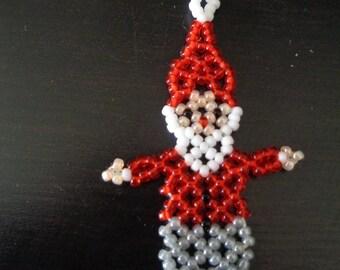 Flat red and grey Santa