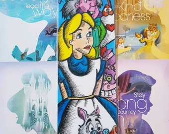 Hand Drawn Original Disney Inspired Alice In Wonderland Bookmark