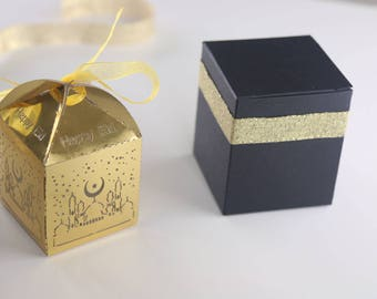 Ramadan and Eid islamic favor box Happy Eid and Kaaba candy box for party gift and favours