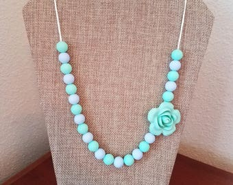 Flower Teething Necklace