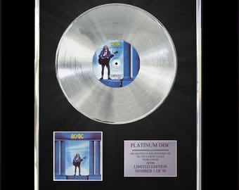 Ac/Dc Who Made Who CD Platinum Disc Vinyl Record LP Award Handmade Gift