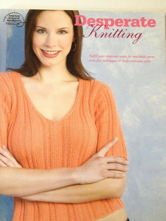 Off The Shoulder Jumper Knitting Pattern : Desperate Knitting Pattern Book Off the Shoulder Sweater