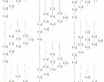 White/Grey Bows-Improv by Benartex 170266