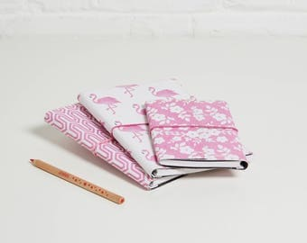 100% recycled flamingo pink designs a5 notebook