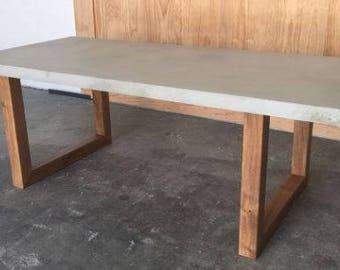 Concrete Table Etsy