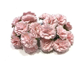 Pink Mulberry Paper Carnations Pc001