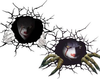 Pennywise Decal Etsy