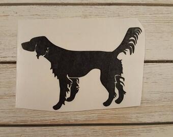 Llewellin Setter Black Vinyl Decal, Car window Decal, Hunting, Setter