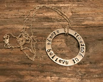 Always believe in yourself necklace