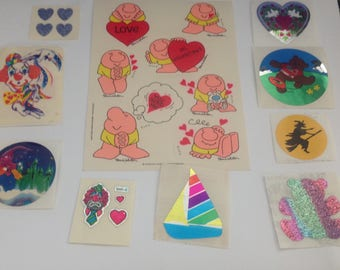 Big Lot Of Vintage 1980s 80s Stickers #10