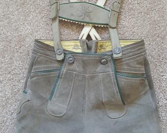 Vintage 1970s authentic children's lederhosen