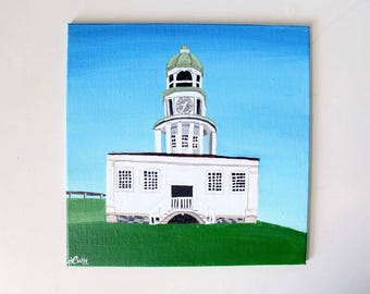 Halifax Town Clock Tower Acrylic Painting