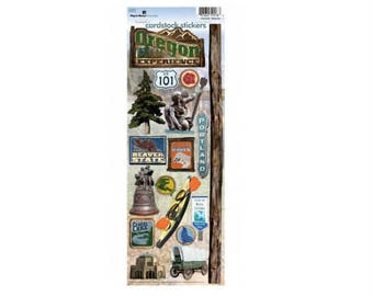 Scrapbook Stickers - Paper House Productions Oregon Cardstock Travel & Vacation Embellishments