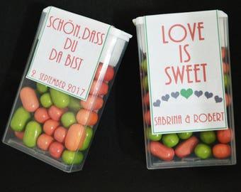 20 x Tic Tac label gift candy bar wedding