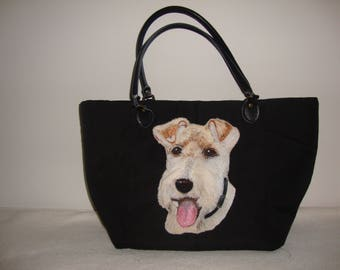 Wire Hair Fox Terrier Dog Handbag, Tote, Shoulder Bag, perfect for birthday, anniversary or holiday gift to loved one or yourself