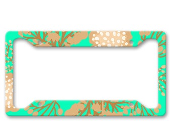 Bright Coral All Over Pattern Print - Underwater Sea Ocean - Auto License Plate Frame - LP1457
