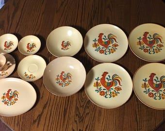 Vintage Rooster plates