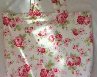 Cath Kidston Ikea ROSALI 100% Cotton Handmade Tote Shopping/Book bag
