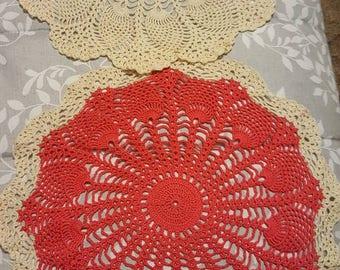 Handmade doilies multi colors