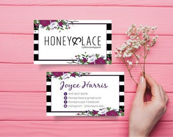 Honey and Lace Business Card, Custom Honey & Lace Business Card, Custom Business Card, Printable Business Card