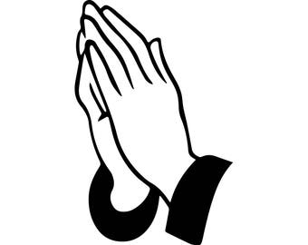 Pray#4 Prayer Hand Belief Faith Religion God Forgiveness Hope Person .SVG .EPS .PNG VectorSpace Clipart Digital Download Circuit Cut Cutting