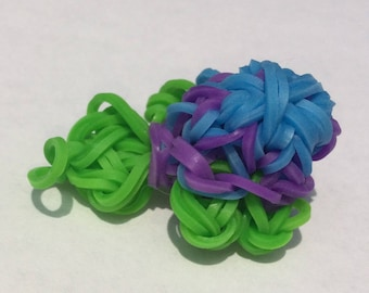 Monster Tail Rainbow Loom Turtle Charm, Animal Charm