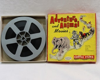 Vintage 8mm Film Adventure and Animal Movies Here Comes The Circus by Castle Films #609