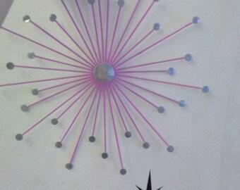 Sputnik Retro Wall Decoration Pink 50s Rockabilly
