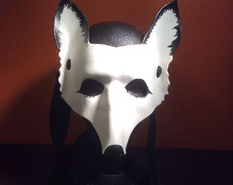 Leather snow fox mask