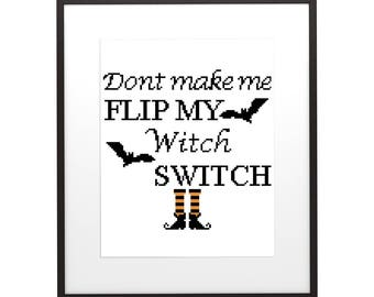 Modern Interior Cross Stitch Pattern Halloween 9 , PDF pattern ** instant download**