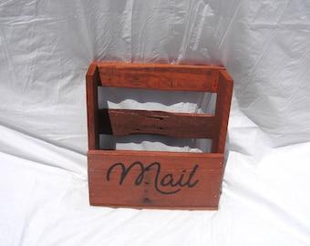 Reclaimed Wood Mail Magazine Rack