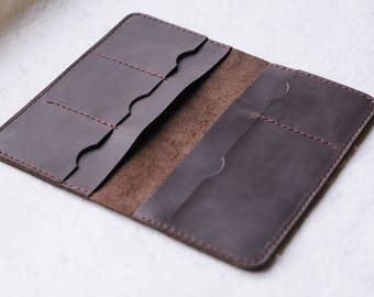 Leather Travel Wallet, Leather wallet, Leather thin wallet, Leather gifts for men, Long women wallet, Gift for him, Gift for her, Purse