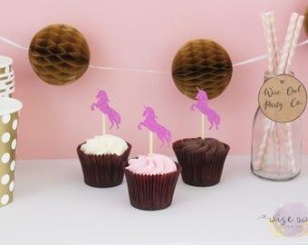 Unicorn cupcake toppers | Unicorn birthday party | cupcake toppers unicorn | Unicorn cupcake picks | Unicorn theme | Unicorn decor |