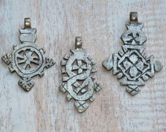 Ethiopian Silver Cross Pendants, Ornate Silver Cross Pendant, Coptic Cross Pendant, Ethiopian Coptic Cross