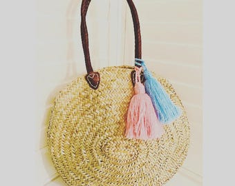 "Round Palm Basket - ""Portofino'"