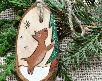 "Christmas tree toy ""Dog"", Christmas decoration for home, Christmas gift handmade, Christmas tree ornaments, Wooden Christmas decorations"