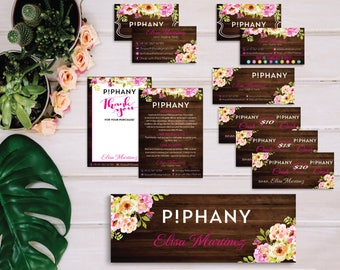 Piphany Marketing Kit, Piphany Starter Bundle, Custom Piphany Package, Piphany Card, Wooden Cards, Printable Card - Digital file